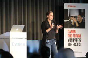 Vortrag von Silke Güldner auf dem Canon Pro Forum in Krefeld