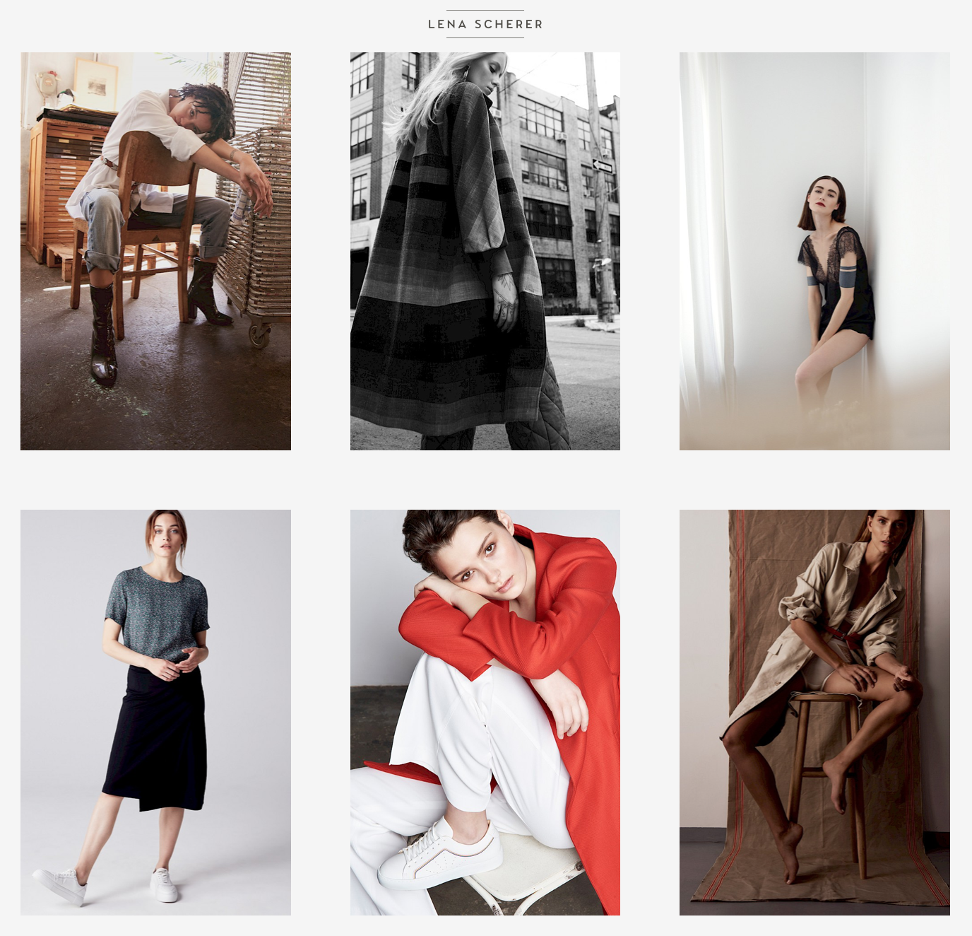 Website Lena Scherer Beratung Fotografin